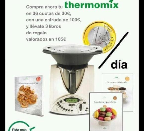 Por tan sólo 1 € al día, TU Thermomix® + 3 libros de regalo