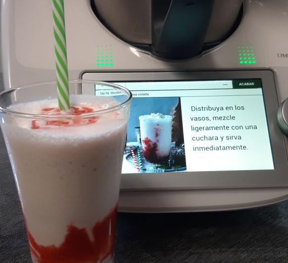 Mocktail de fresa colada