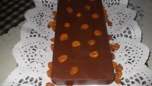 TURRON DE CHOCOLATE CON